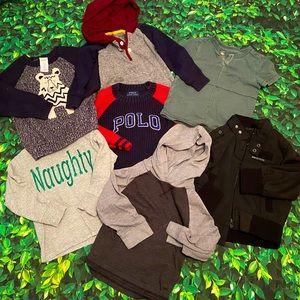 2T Toddler Boy Fall Winter Lot Oshkosh Polo Shirts